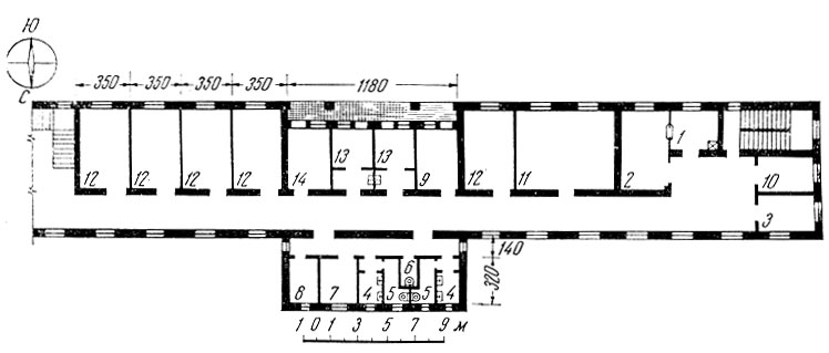 Схема планировки палатной